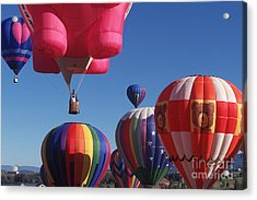 Steamboat Springs Balloons Acrylic Print by Stan and Anne Foster