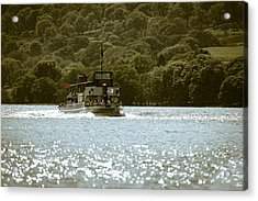 Steaming Across The Lake Acrylic Print by Andy Smy