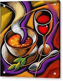 Steaming Supper Acrylic Print by Leon Zernitsky