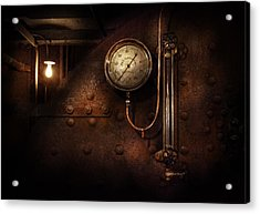 Steampunk - Boiler Gauge Acrylic Print by Mike Savad