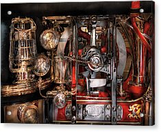 Steampunk - Check The Gauges  Acrylic Print by Mike Savad