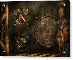 Steampunk - Check Your Pressure Acrylic Print by Mike Savad