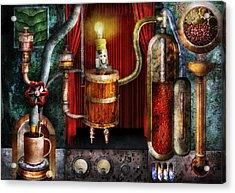 Steampunk - Coffee Break Acrylic Print by Mike Savad