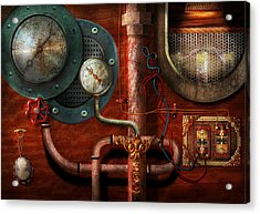 Steampunk - Controls Acrylic Print by Mike Savad