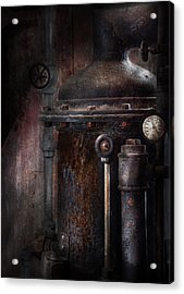 Steampunk - Handling Pressure  Acrylic Print by Mike Savad