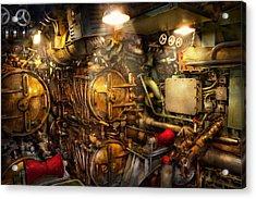 Steampunk - Naval - The Torpedo Room Acrylic Print by Mike Savad