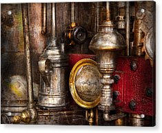 Steampunk - Needs Oil Acrylic Print by Mike Savad