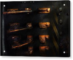 Steampunk - Pull The Switch Acrylic Print by Mike Savad