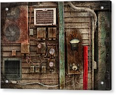 Steampunk - The Future  Acrylic Print by Mike Savad