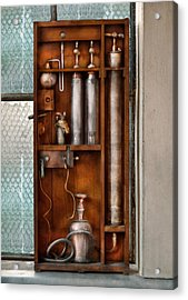 Steampunk - The Invention  Acrylic Print by Mike Savad