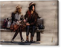 Steampunk - Time Travelers Acrylic Print by Mike Savad