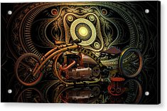Acrylic Print featuring the photograph Steampunk Chopper by Louis Ferreira