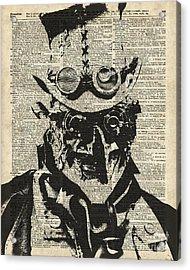Steampunk Guy Acrylic Print by Jacob Kuch