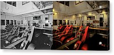 Acrylic Print featuring the photograph Steampunk - Man The Controls 1908 - Side By Side by Mike Savad