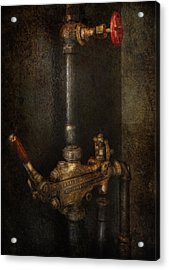 Steampunk - Plumbing - Number 4 - Universal  Acrylic Print by Mike Savad