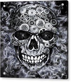 Steampunk Skull Acrylic Print