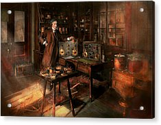 Steampunk - The Time Traveler 1920 Acrylic Print