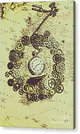 Steampunk Travel Map Acrylic Print