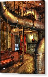 Steampunk - Where The Pipes Go Acrylic Print by Mike Savad
