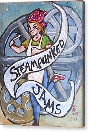 Steampunked Jams Acrylic Print by Loretta Nash