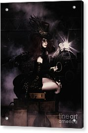 Steampunkxpress Acrylic Print by Shanina Conway