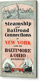 Steamship And Railroad Connections At New York Acrylic Print