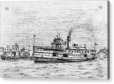 Steamship Nobska Acrylic Print