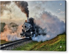 Steamy Departure Acrylic Print