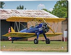 Stearman And Old Hangar Acrylic Print
