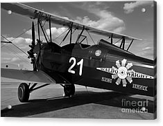 Stearman Biplane Acrylic Print by David Lee Thompson