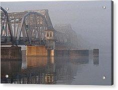 Steel Bridge In Fog Acrylic Print