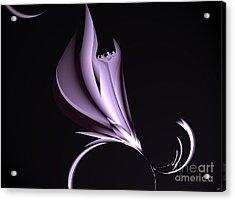 Steel Magnolia Abstract. Acrylic Print