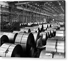 Steel Mill Acrylic Print by Everett