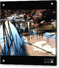 Steel River Acrylic Print by Ze DaLuz