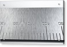 Steel Ruler Closeup Acrylic Print