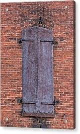Acrylic Print featuring the photograph Steel Shutters by Paul Freidlund