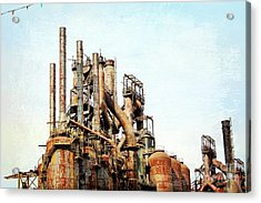 Steel Stack Blast Furnaces Acrylic Print