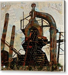 Steel Stacks Squared Acrylic Print