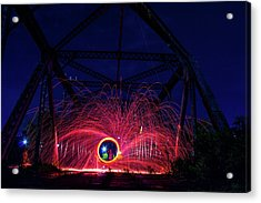 Steel Wool Spinner Acrylic Print