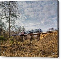 Steele Creek Trestle Panorama Acrylic Print