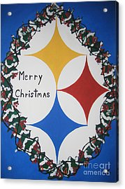 Steelers Christmas Card Acrylic Print