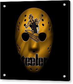 Steelers War Mask 3 Acrylic Print by Joe Hamilton