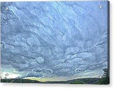 Steely Blue Sky Acrylic Print