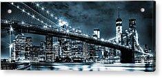 Steely Skyline Acrylic Print
