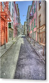 Steep Street Acrylic Print by Scott Norris
