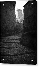 Steep Walk To The Tower Acrylic Print by Jez C Self