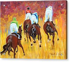 Steeple Chase Acrylic Print by Pauline Ross