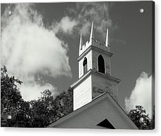 Steeple In The Clouds Acrylic Print by Lois Lepisto