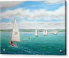 'steer The Course' - West Kirby Marine Lake, Wirral Acrylic Print