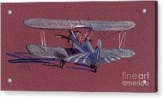 Steerman Biplane Acrylic Print by Donald Maier